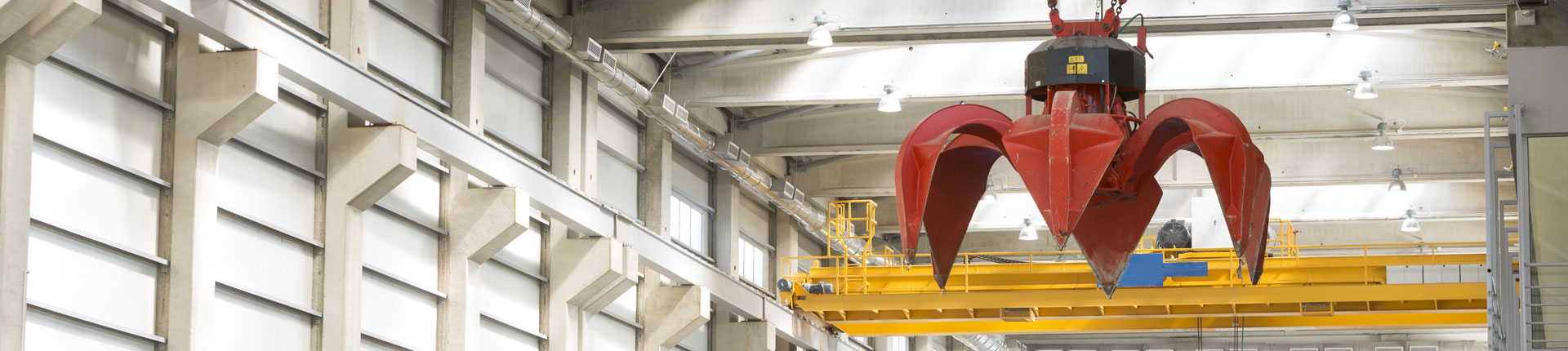 Crane at an incineration plant